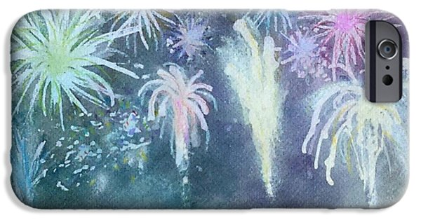 Fourth Of July iPhone Cases - Fireworks iPhone Case by Jennie Hallbrown