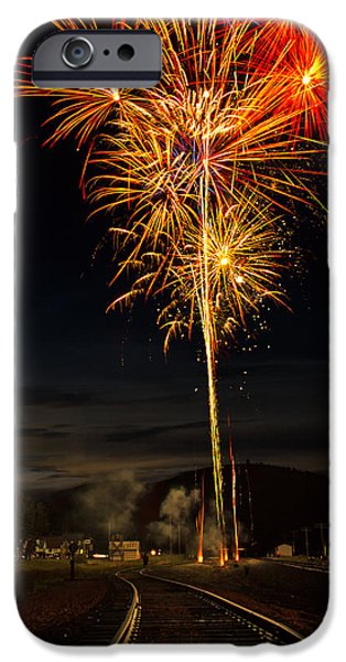 July iPhone Cases - Fireworks over Spencer iPhone Case by Chris LeTexier