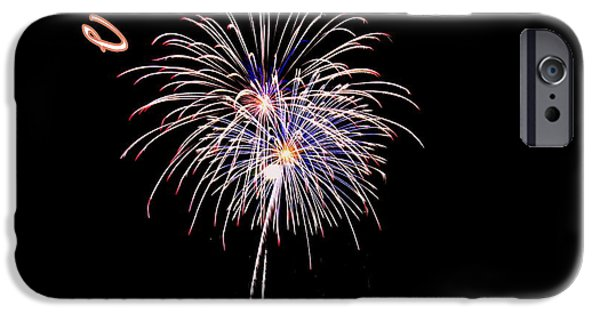 4th July Photographs iPhone Cases - Fireworks South Carolina iPhone Case by Lisa Wooten