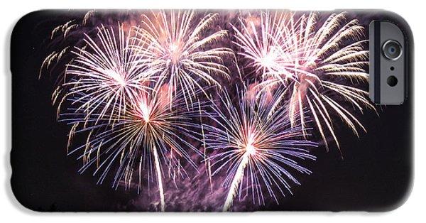 Independance Day Photographs iPhone Cases - Fireworks iPhone Case by Taylor Gibeault