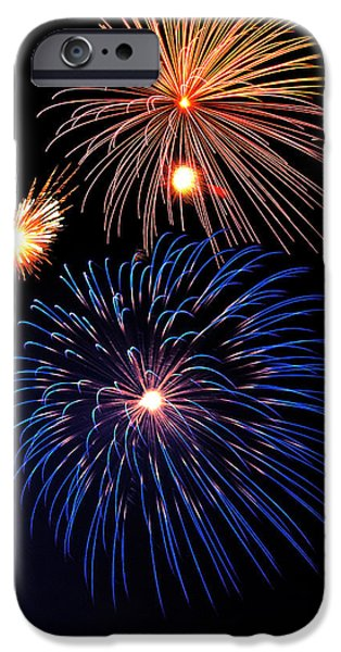 Fireworks Photographs iPhone Cases - Fireworks Wixom 1 iPhone Case by Michael Peychich