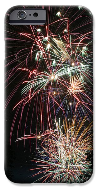 4th July Photographs iPhone Cases - Fireworks6487 iPhone Case by Gary Gingrich Galleries