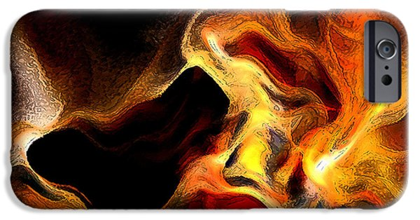 Blue Digital iPhone Cases - Firey iPhone Case by Ruth Palmer