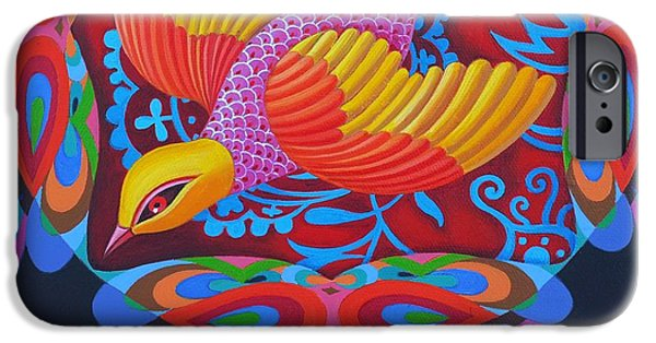 Fauna iPhone Cases - Firey-tailed flier iPhone Case by Jane Tattersfield