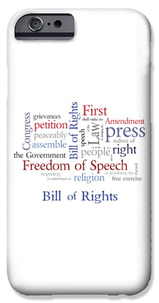 Free Speech iPhone Cases - First Amendment - Bill of Rights iPhone Case by Antique Images