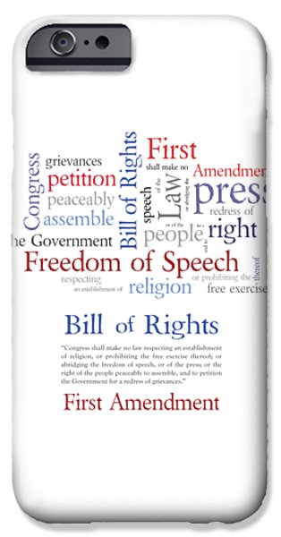 Constitution iPhone Cases - First Amendment Freedom of Speech iPhone Case by Antique Images
