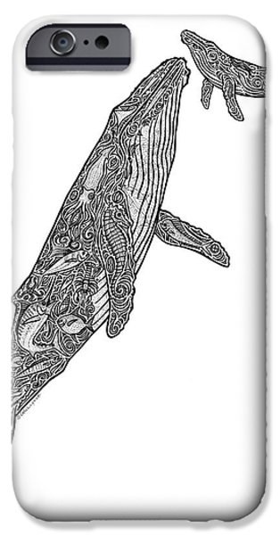 Creative Drawings iPhone Cases - First Breath iPhone Case by Carol Lynne