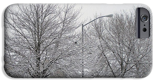 Snow Reliefs iPhone Cases - First Day Of Spring In New York iPhone Case by Suhas Tavkar