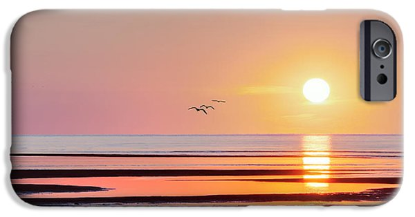 Pastel iPhone Cases - First Encounter Beach Cape Cod Square iPhone Case by Bill Wakeley