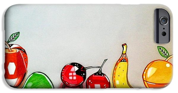Food And Beverage Glass Art iPhone Cases - First Fruits of glass 3D iPhone Case by Giorgio Valencia