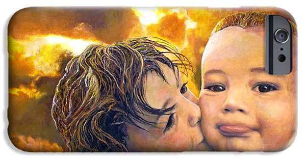 Child iPhone Cases - First Kiss iPhone Case by Michael Durst