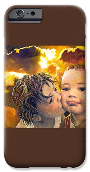First Kiss iPhone Case by Michael Durst