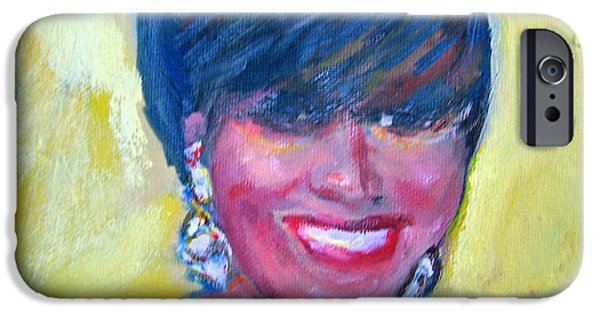 First Lady Paintings iPhone Cases - First Lady in Red iPhone Case by Patricia Taylor