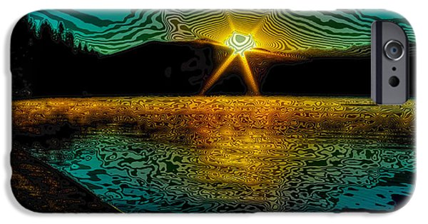 First Star iPhone Cases - First Light on Priest Lake iPhone Case by David Patterson