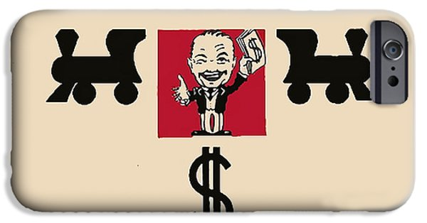 Board iPhone Cases - First Monopoly Cover iPhone Case by Paul Van Scott