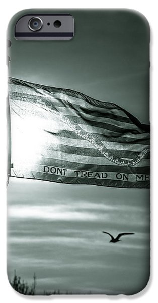 America First Party iPhone Cases - First Navy Jack iPhone Case by Chris Bordeleau