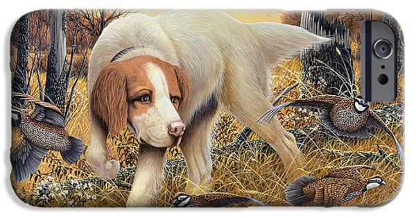 Setter Pointer iPhone Cases - First Point iPhone Case by Don Engler