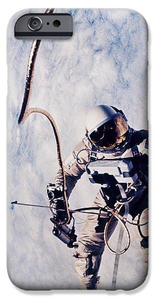 First Spacewalk iPhone Case by NASA