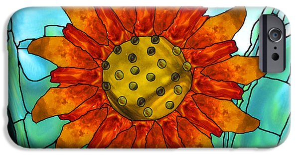 Surrealism Glass iPhone Cases - First Sun iPhone Case by Wendy Rickwalt