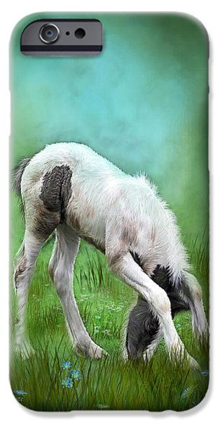 Young Mixed Media iPhone Cases - First Taste iPhone Case by Carol Cavalaris