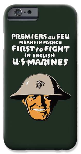 Marine iPhone Cases - First To Fight - US Marines iPhone Case by War Is Hell Store