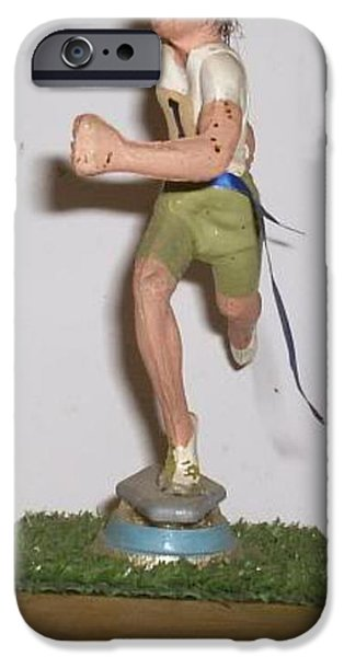 Sports Sculptures iPhone Cases - First iPhone Case by William Douglas