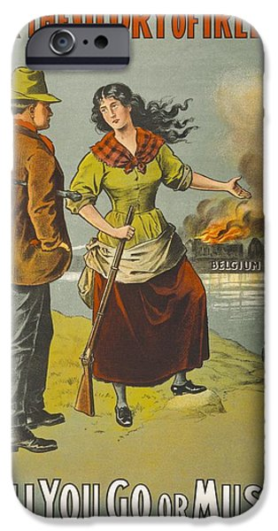 Ww1 iPhone Cases - First World War Chromolithographic iPhone Case by Ken Welsh