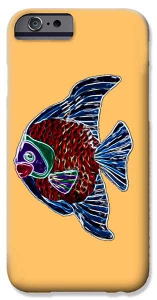 Ceramic Mixed Media iPhone Cases - Fish In Water iPhone Case by Shane Bechler