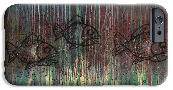 Fish Mixed Media iPhone Cases - Fish iPhone Case by Kelly Jade King