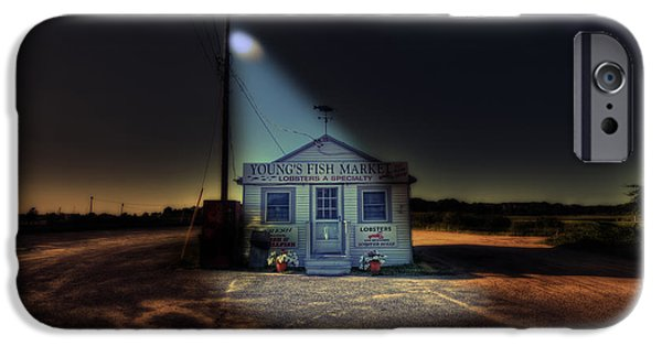 Night iPhone Cases - Fish Market Cape Cod iPhone Case by Dapixara Art