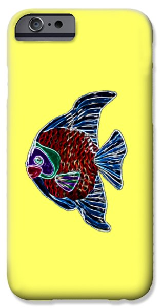 Ceramic Mixed Media iPhone Cases - Fish Tales iPhone Case by Shane Bechler