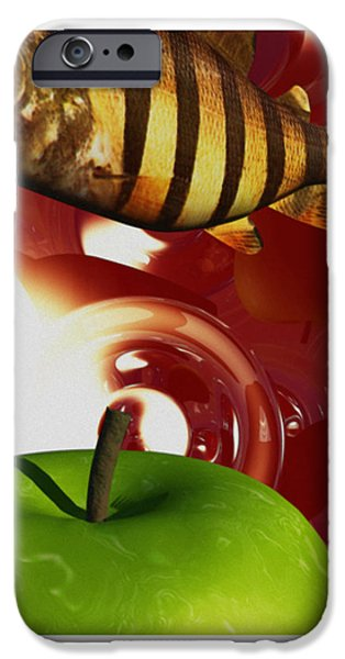 Fish Tripping iPhone Case by Richard Rizzo