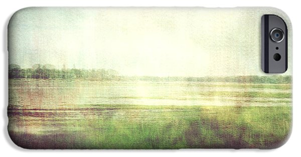 Nature Abstract iPhone Cases - Fishbourne Marshes 02 iPhone Case by Violet Gray