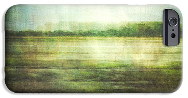 Nature Abstract iPhone Cases - Fishbourne Marshes iPhone Case by Violet Gray
