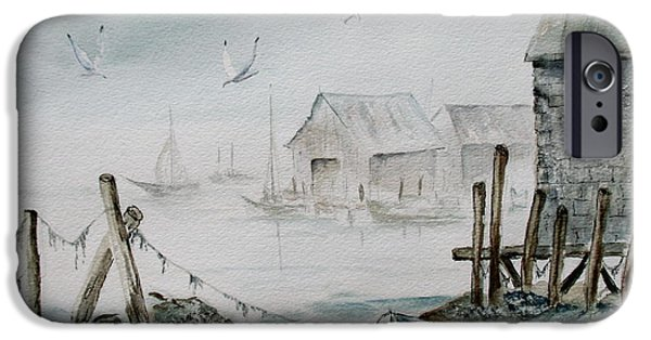Village iPhone Cases - Fishermans Cove iPhone Case by April McCarthy-Braca