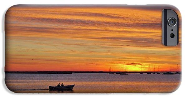 Ocean Sunset iPhone Cases - Fishermans Return iPhone Case by Angelo DeVal