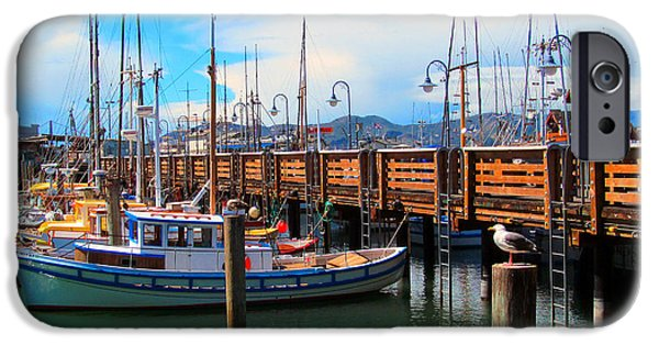 Alcatraz iPhone Cases - Fishermans Wharf iPhone Case by Tina M Wenger
