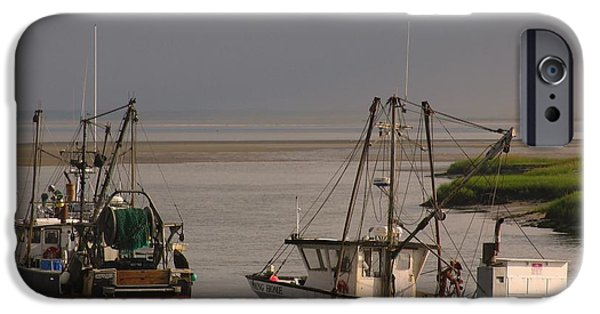 Chatham iPhone Cases - Fishermen Boats iPhone Case by Juergen Roth
