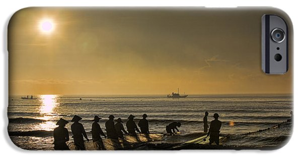 Boat iPhone Cases - Fishermen Sunset  iPhone Case by Chuck Kuhn