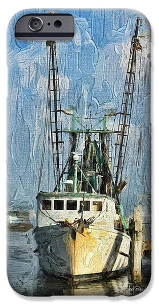 Boaters iPhone Cases - Fishing Anyone iPhone Case by Deborah Benoit
