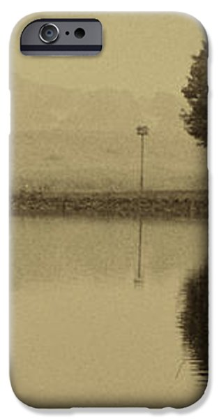 FISHING AT MARSH CREEK STATE PARK PA. iPhone Case by JACK PAOLINI