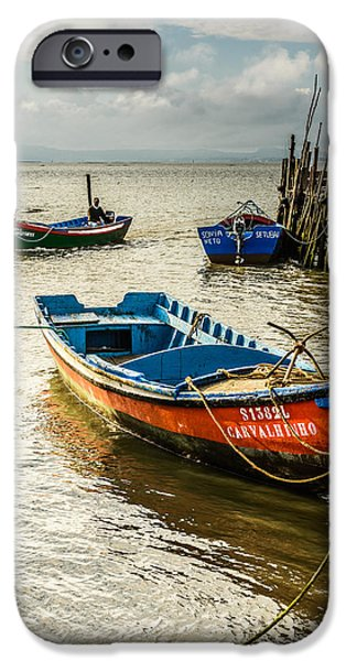Marine iPhone Cases - Fishing Boats iPhone Case by Marco Oliveira