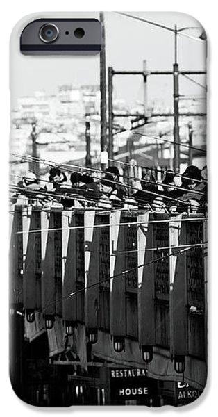 Fishing on the Galata Bridge iPhone Case by John Rizzuto