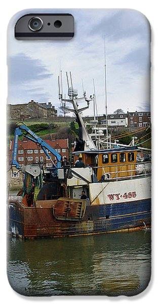 Fishing Trawler WY 485 at Whitby iPhone Case by Rod Johnson