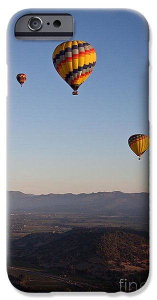 Hot Air Balloon iPhone Cases - Five Balloons iPhone Case by Ana V  Ramirez