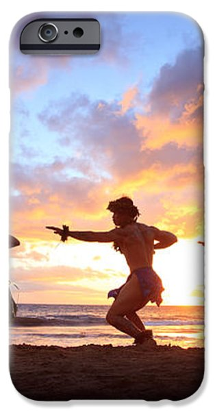 Five Hula Dancers At Sunset iPhone Case by David Olsen