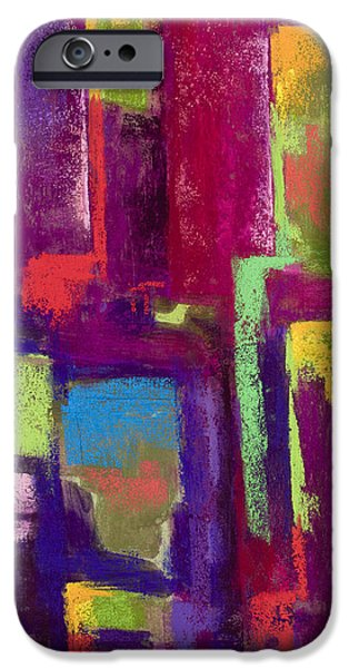 Red Wine Pastels iPhone Cases - Five OClock Somewhere #2 iPhone Case by Diana Wade