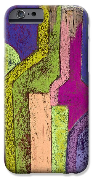 Red Wine Pastels iPhone Cases - Five OClock Somewhere #6 iPhone Case by Diana Wade