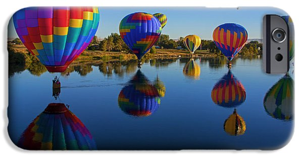 Hot Air Balloon iPhone Cases - Five on the WAter iPhone Case by Mike Dawson
