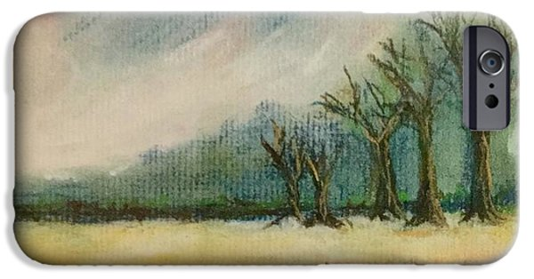 Pastel iPhone Cases - Five trees iPhone Case by Tom Harmon